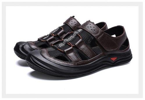 4ab91e4741d1 Pánske kožené sandále